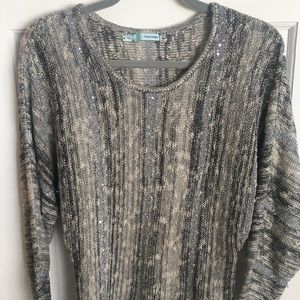 Maurices, sweater with sequins, gray colored